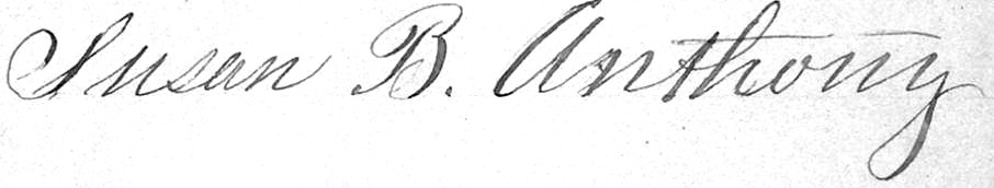 Anthony's Signature on a 1864 Petition to Congress