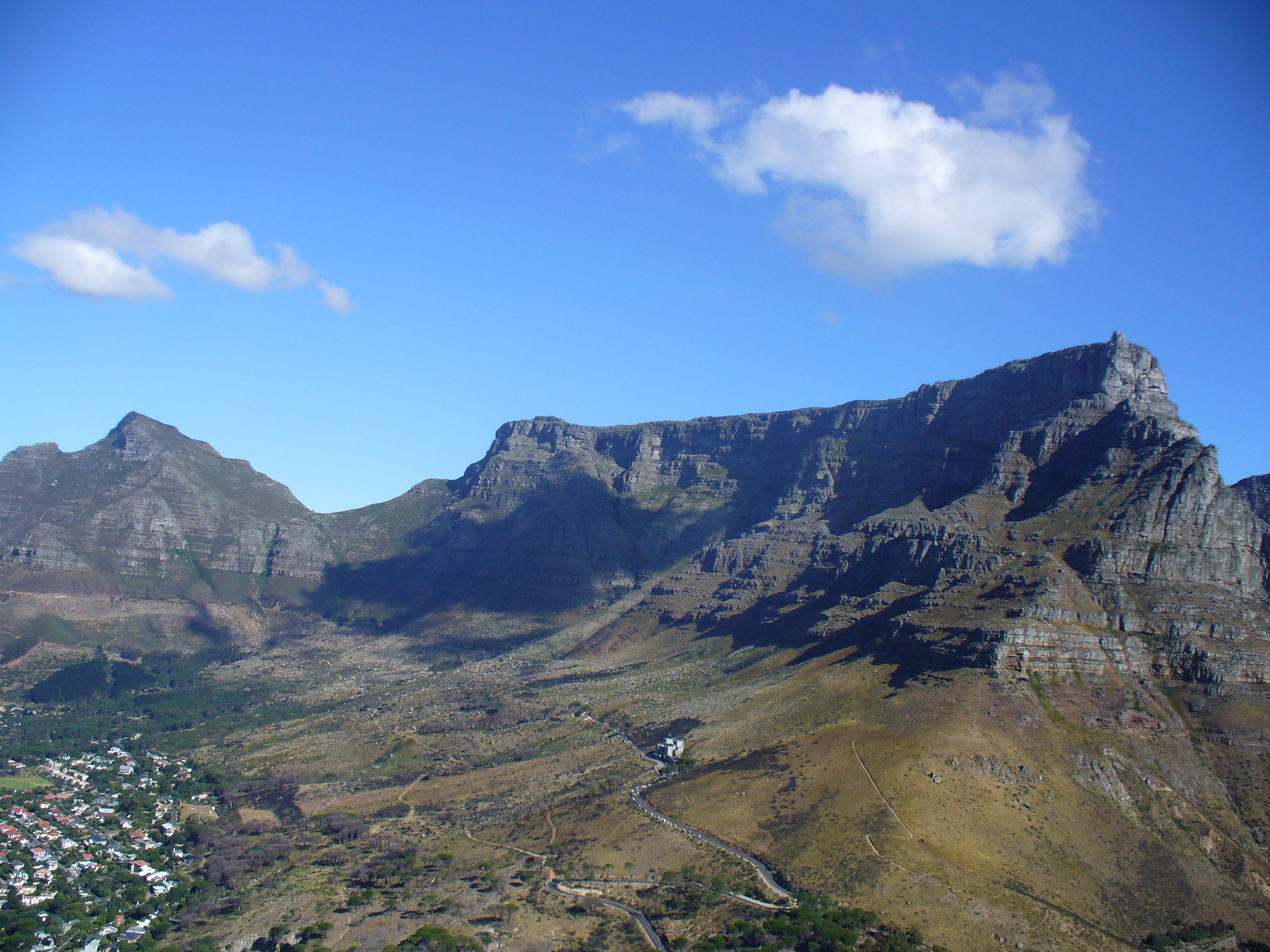 File table mountain with devil 39 s peak in - Table mountain wallpaper ...
