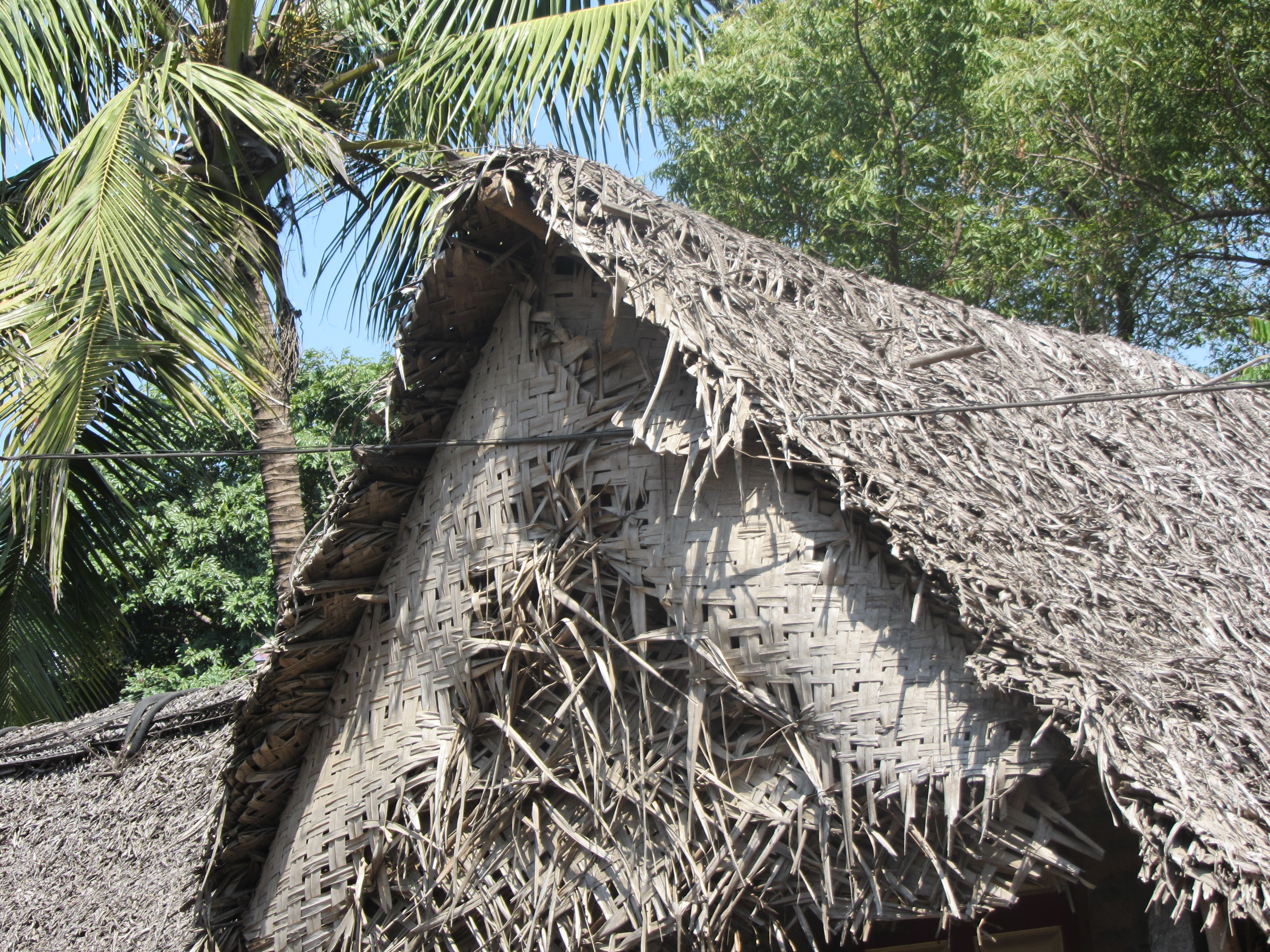 File Thatched Hut With Coconut Leaves Mat Jpg
