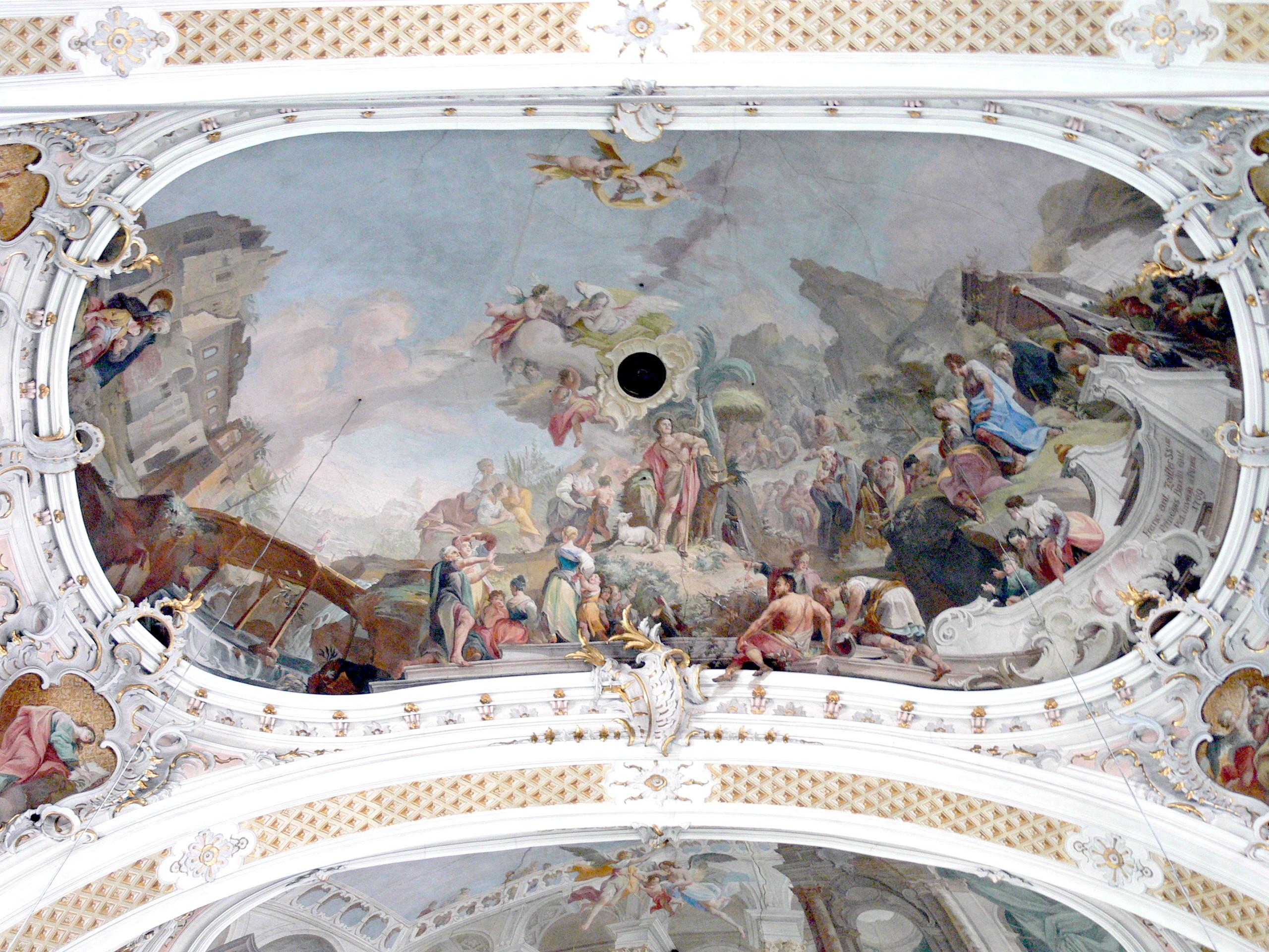 File Toblach Pfarrkirche Deckenfresco 2 Prediger In