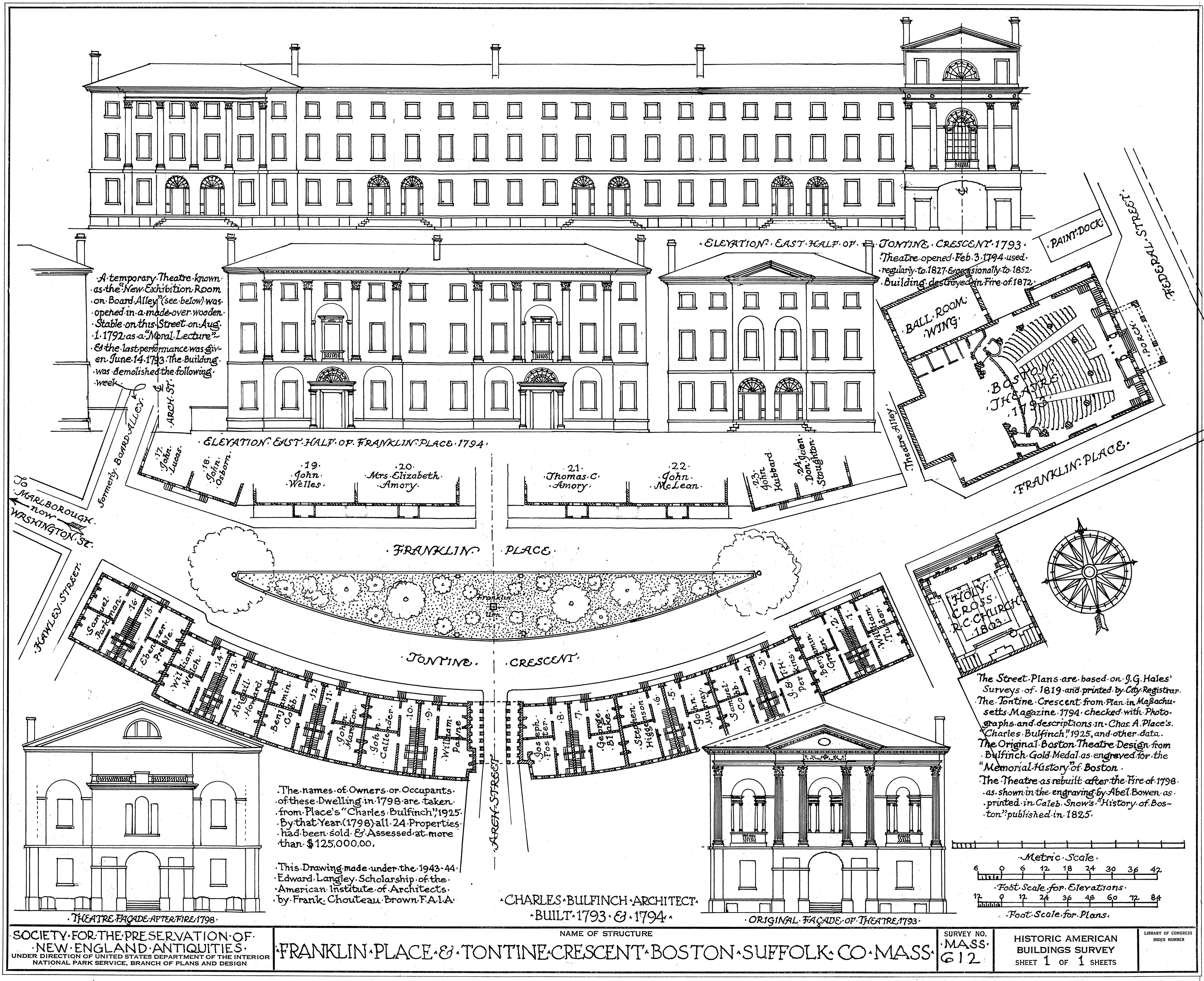 Plan Elevation En Anglais : File tontine crescent boston massachusetts elevation