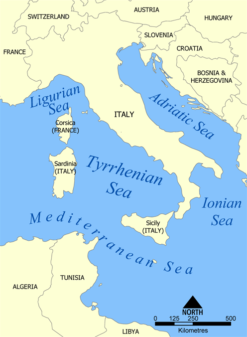 Tyrrhenian Sea  Wikipedia