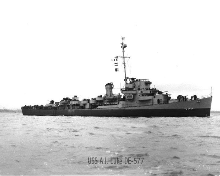 USS Alexander J. Luke (DE-577) underway, circa in 1944.jpg