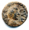 A Vandal-period coin found in Sardinia depicting Godas. Latin legend : REX CVDA. - Sardinia