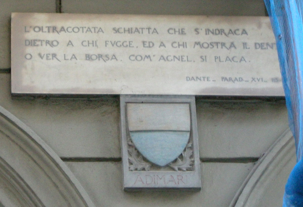 Lapidi Della Divina Commedia Di Firenze Wikipedia