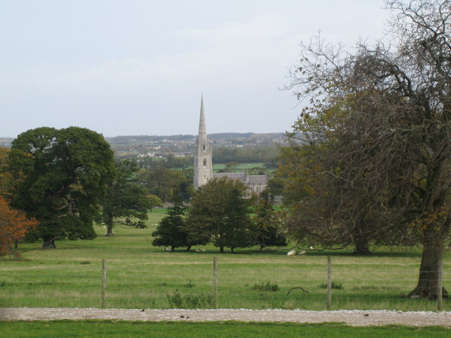 View of the Marble Church from the grounds of Bodelwyddan Castle - geograph.org.uk - 278877