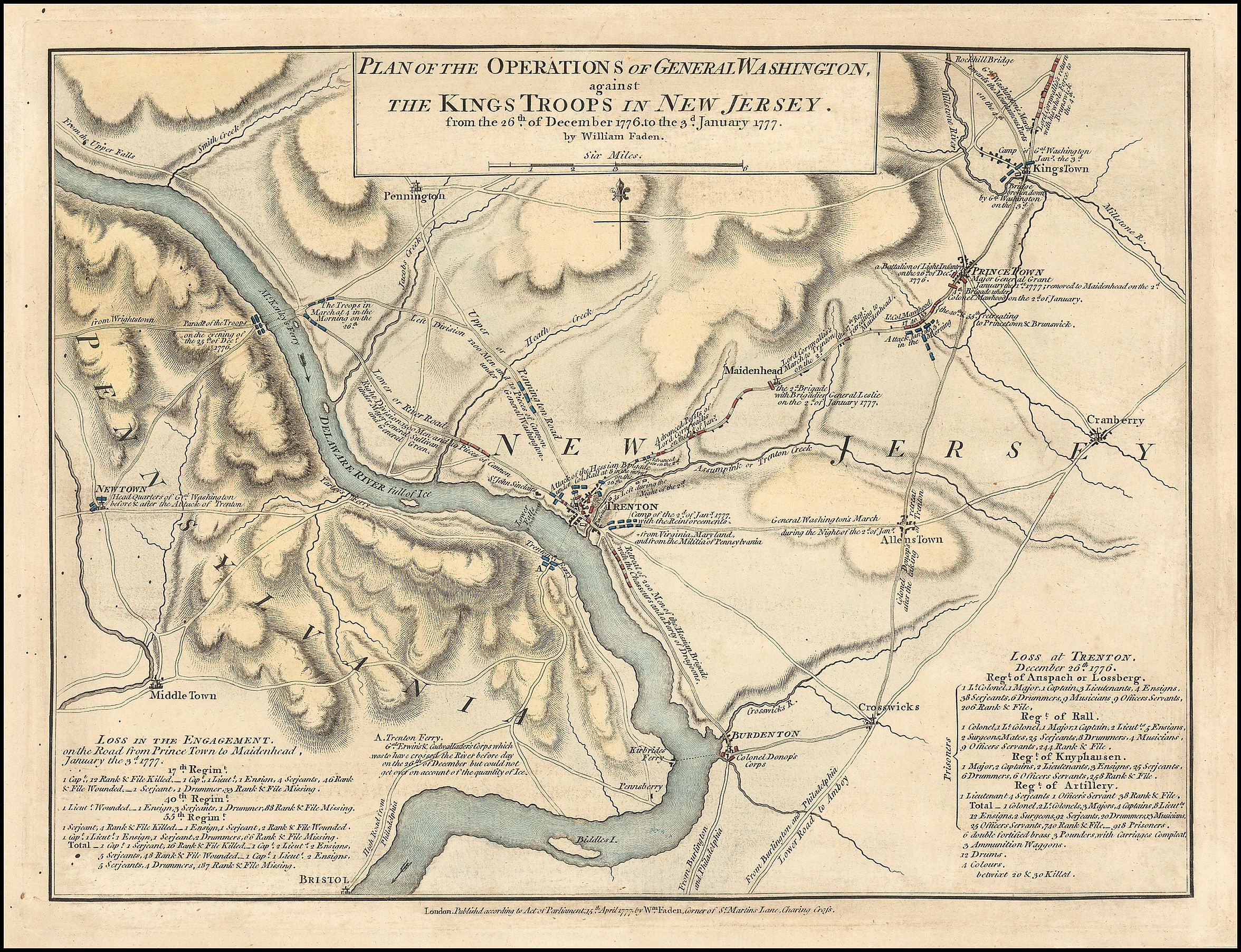 George Washington's crossing of the Delaware River - Wikipedia