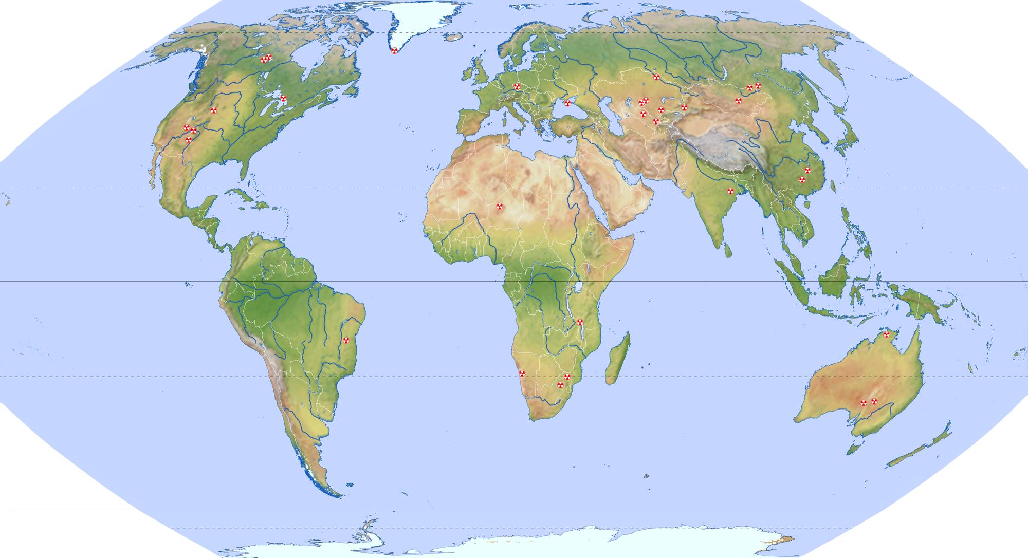 realistische weltkarte File:Weltkarte Uranförderung.png   Wikimedia Commons realistische weltkarte