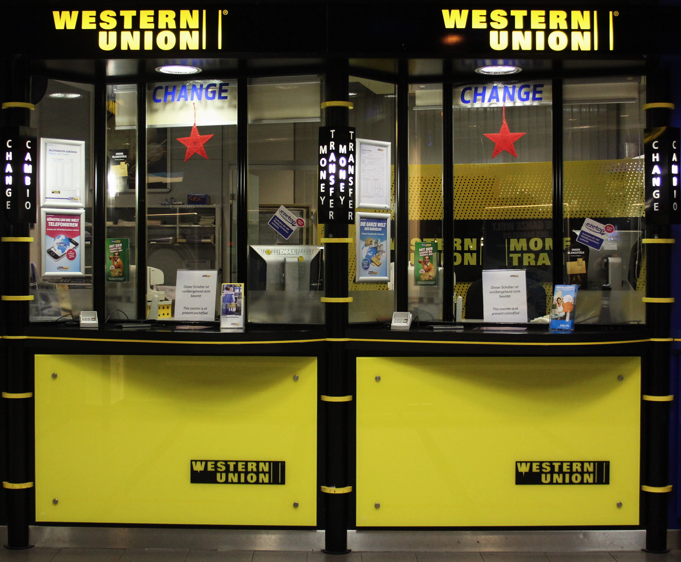 Datei western union schalter am hauptbahnhof muenchen jpg for Oficinas western union barcelona