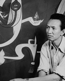 Famous 20th-century Afro-Chinese-Cuban artist Wifredo Lam born to a Chinese father
