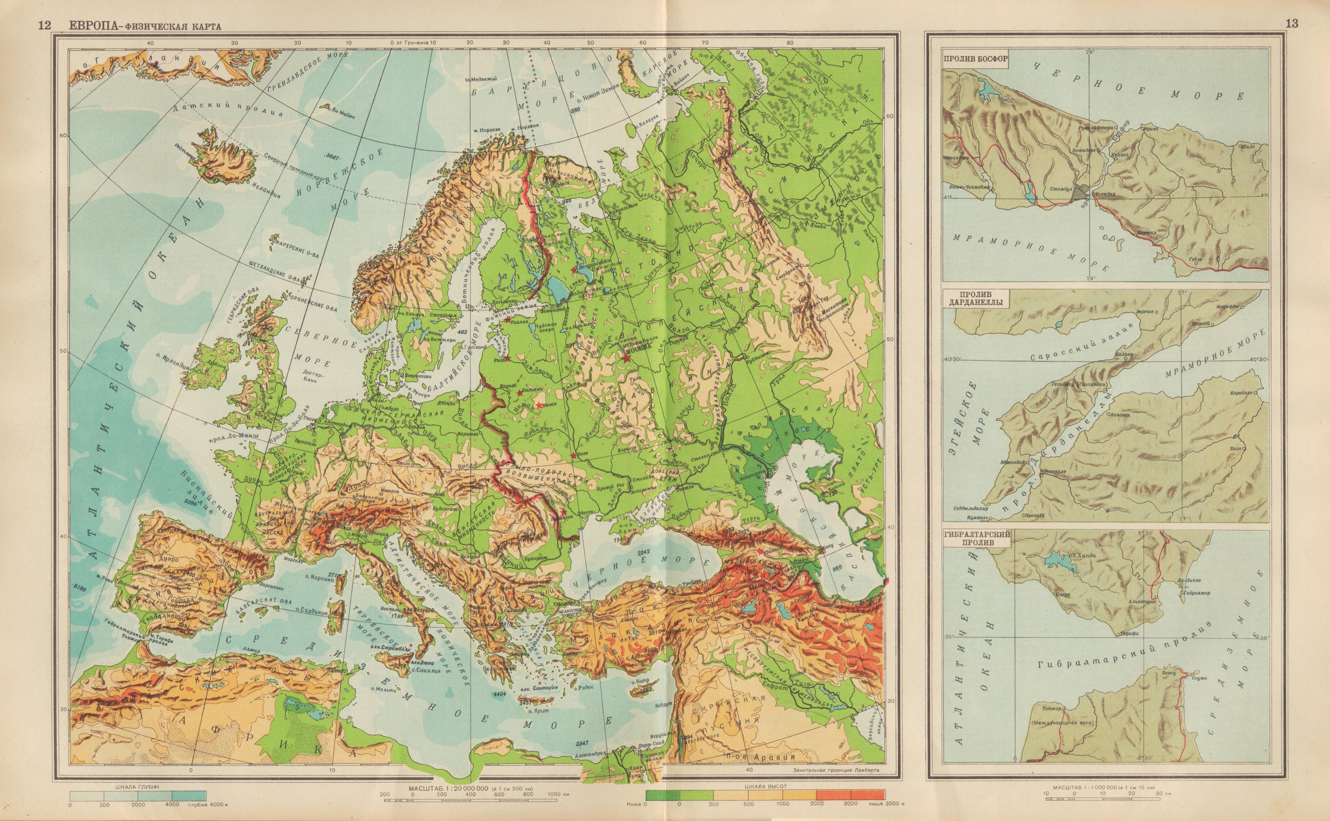 File 12 13 Evropa Fizicheskaya Karta Jpg Wikimedia Commons