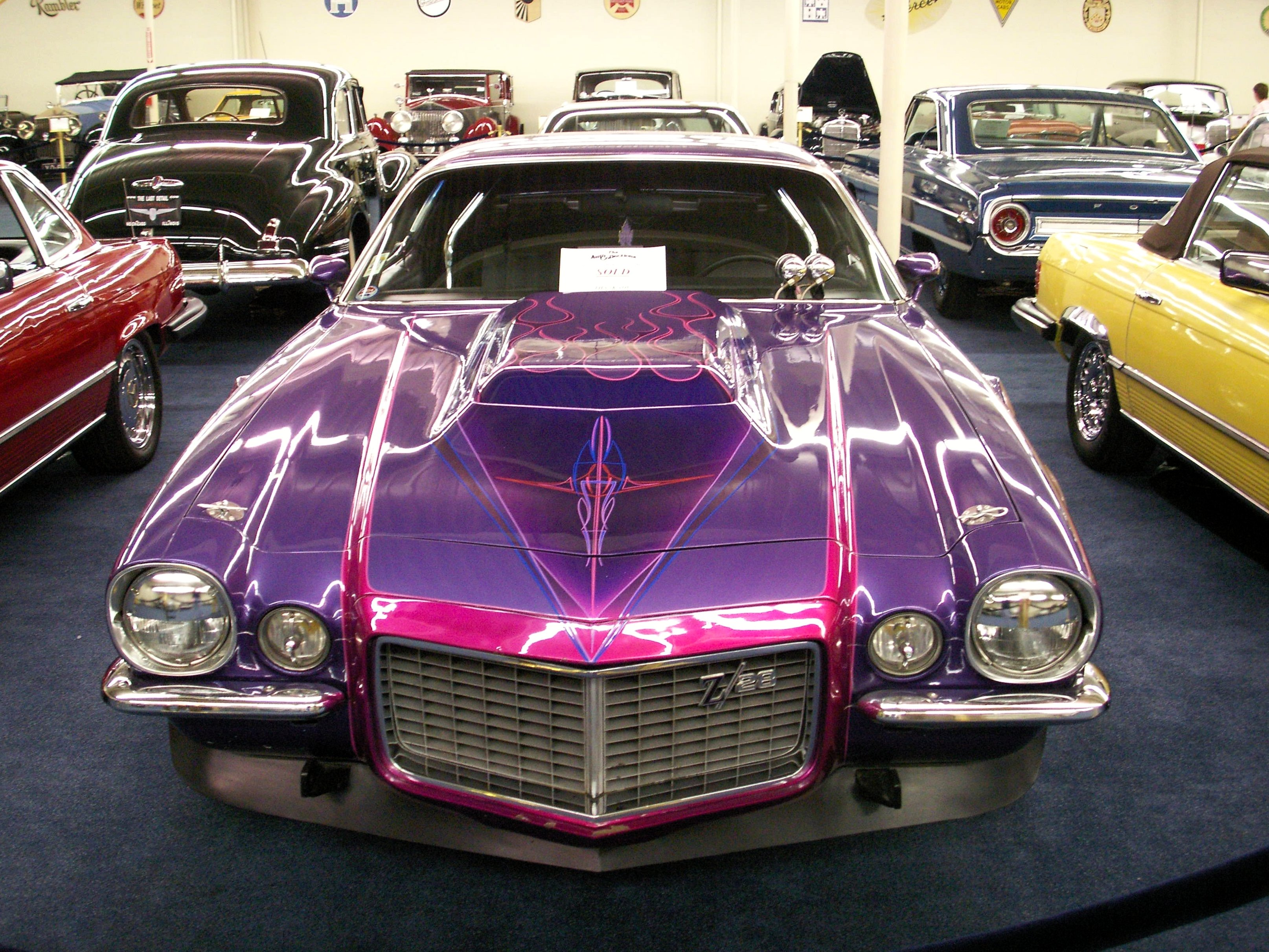 File 1973 Pimpin Purple Camaro At The Auto Collections Imperial Palace Hotel
