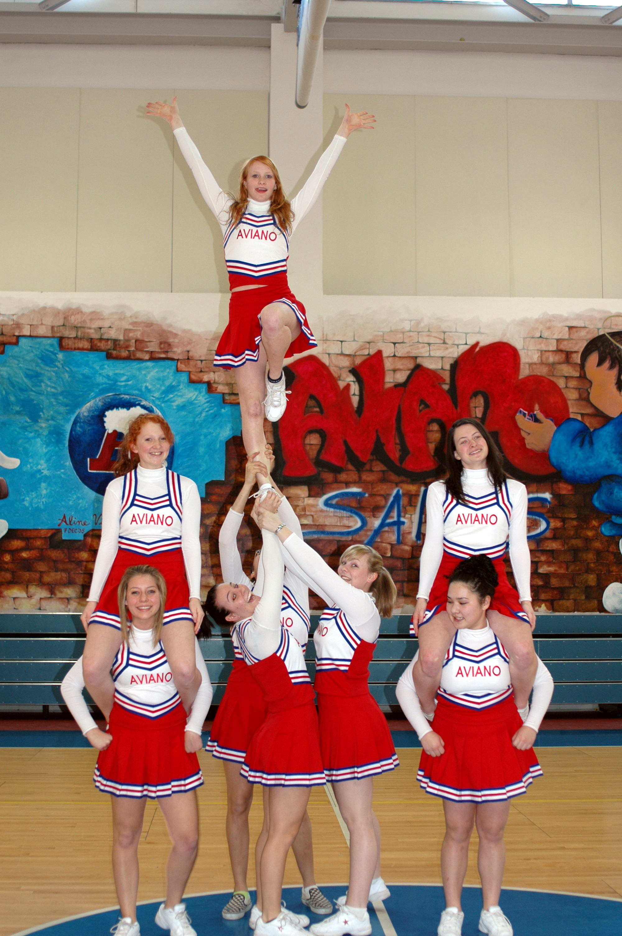 Description Aviano cheerleaders.jpg