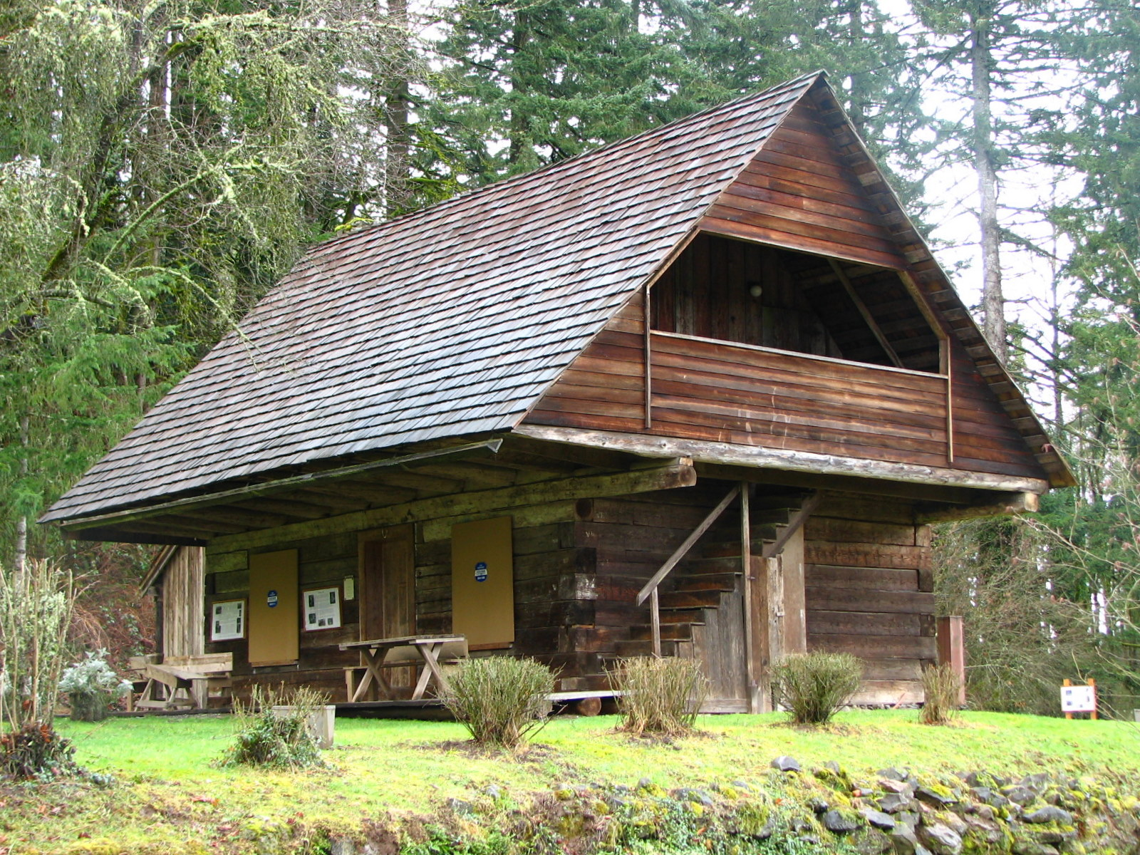 Superb img of File:Baker Log Cabin Carver Oregon.jpg Wikipedia with #8D9A31 color and 1600x1200 pixels