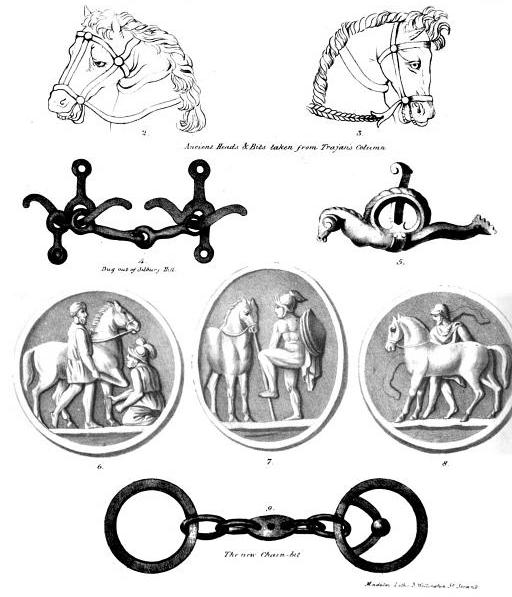 Illustrations from Bracy Clark, ''A Treatise on the Bits of Horses Chalinologia'' (1835).