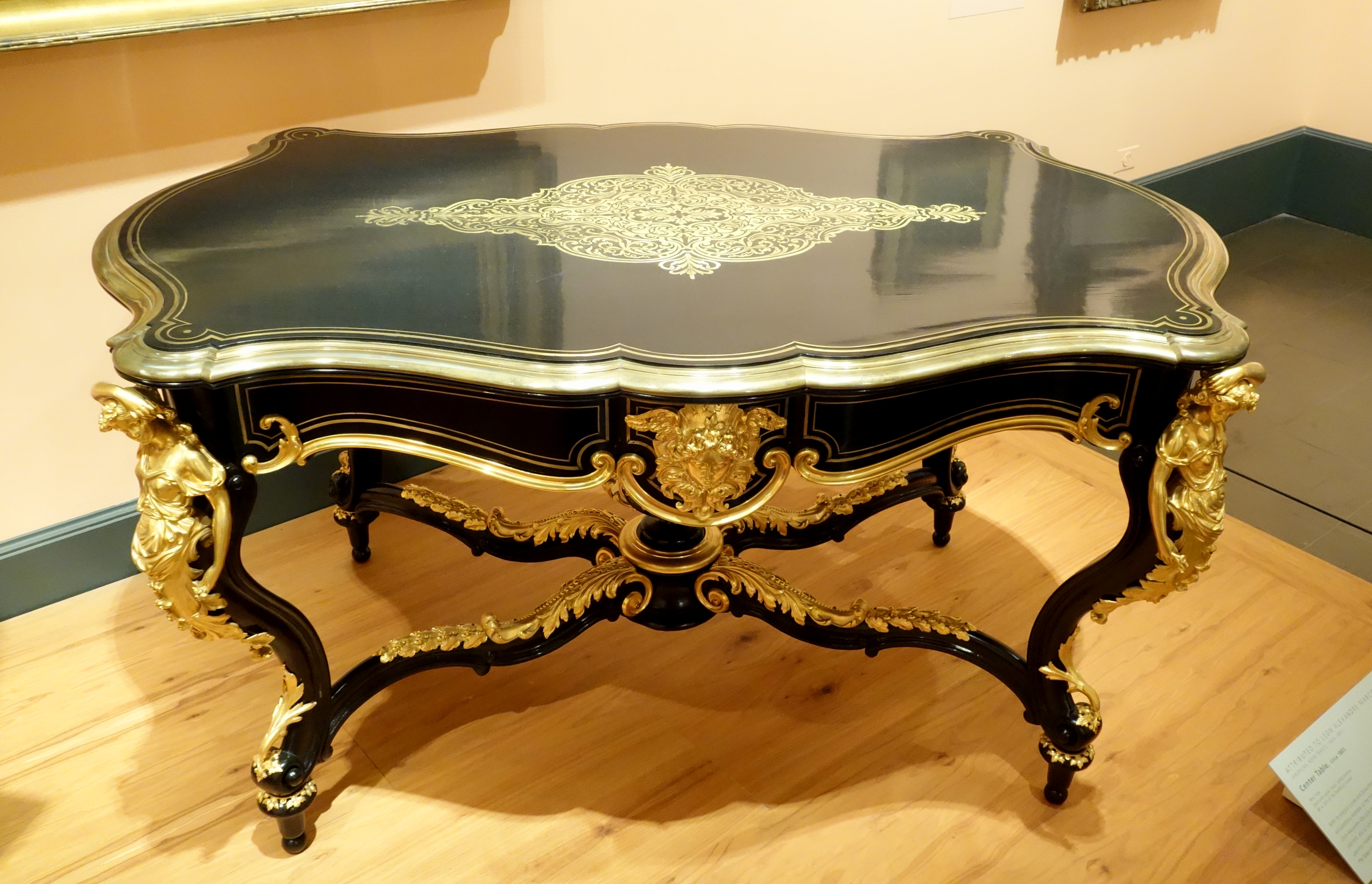 File center table attributed to leon alexandre marcotte
