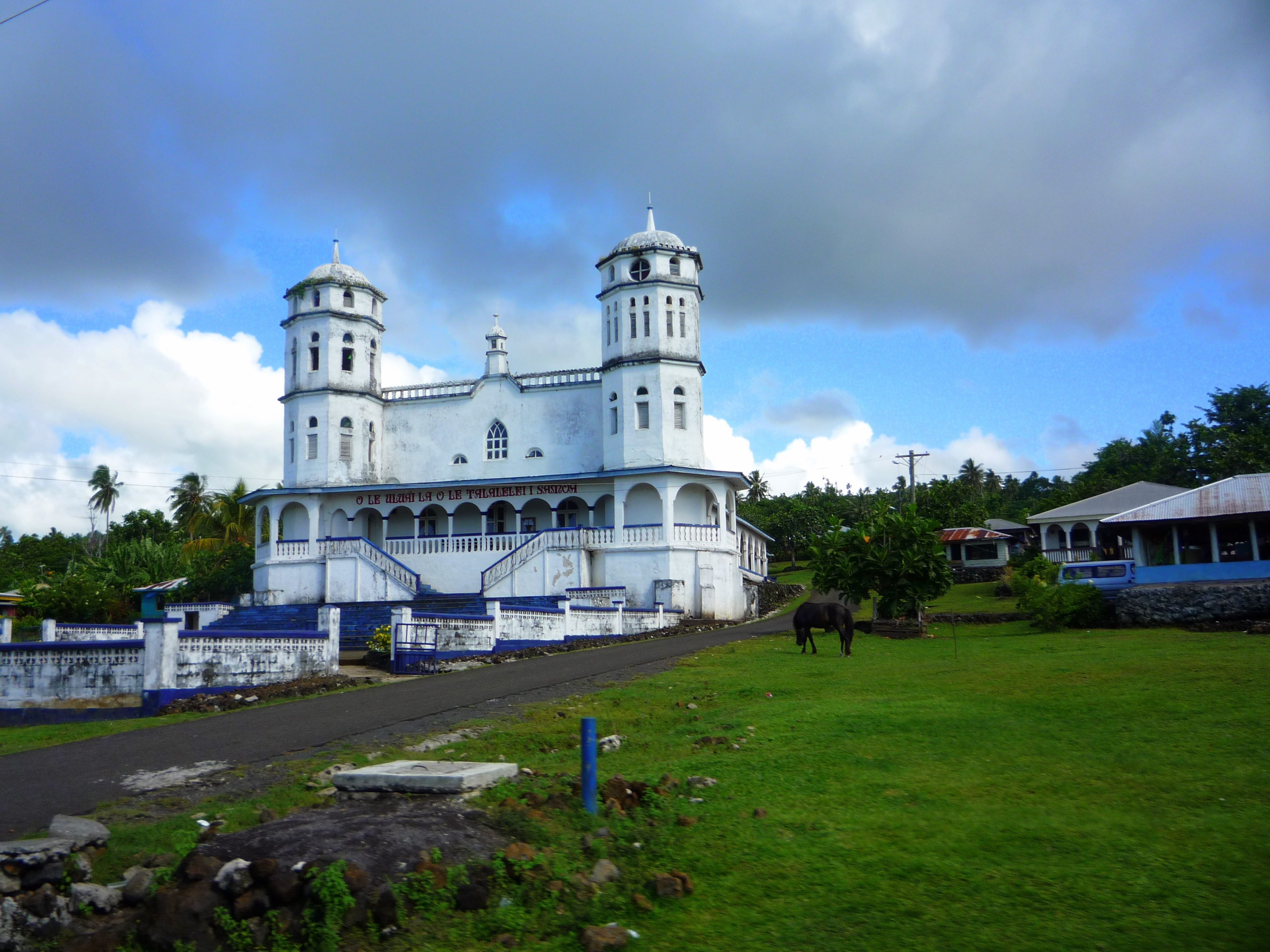 Salelologa Samoa  city photo : Church in Salelologa Savai'i Samoa 2009 Wikimedia ...
