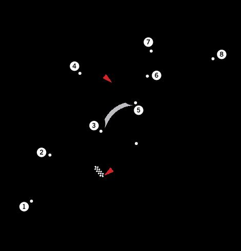 Tracé du Circuit de Dijon-Prenois
