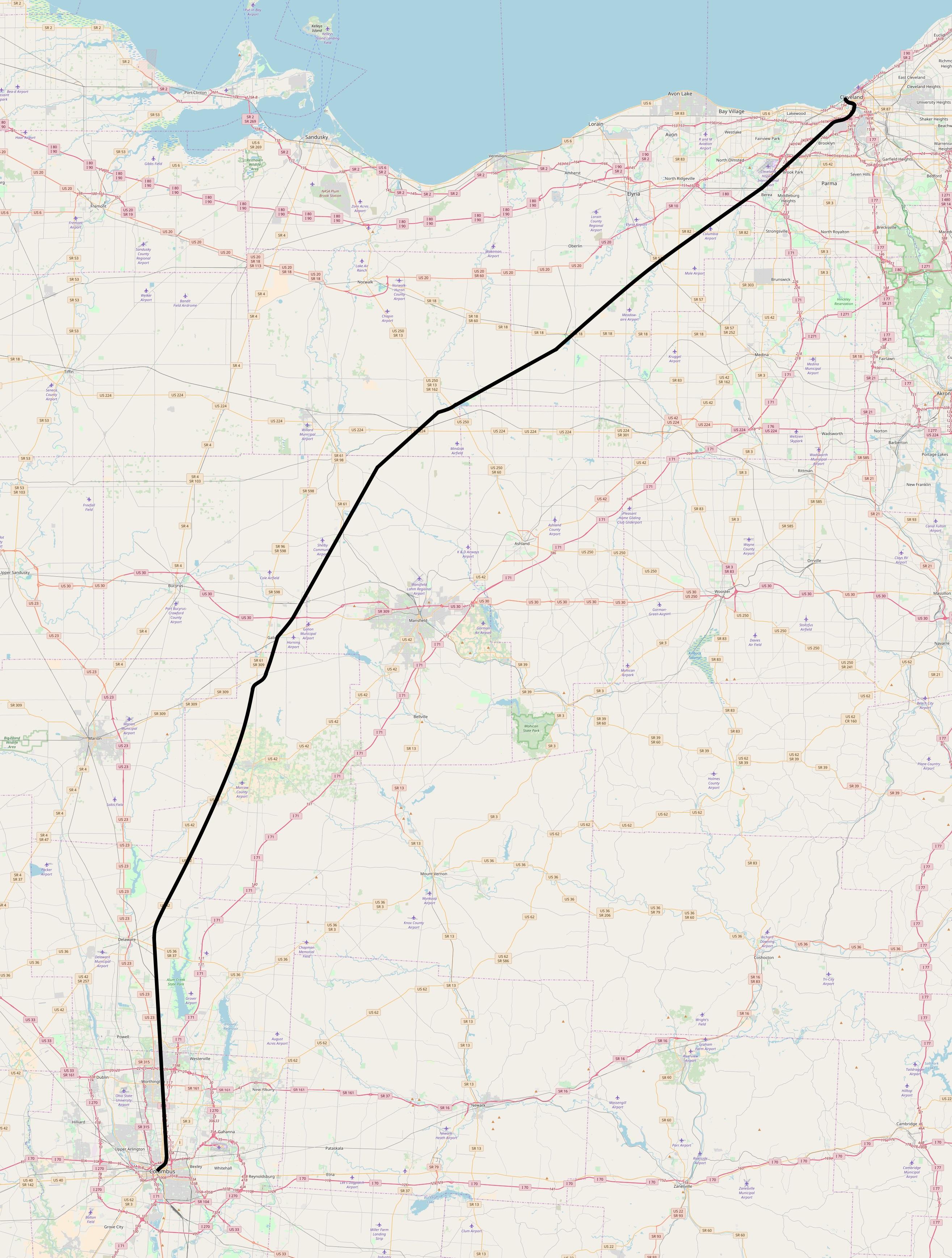 OHIO 1819 OH MAP Marion Galion Shelby Upper Sandusky HISTORY LARGE