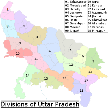 Administrative divisions of Uttar Pradesh  Wikipedia