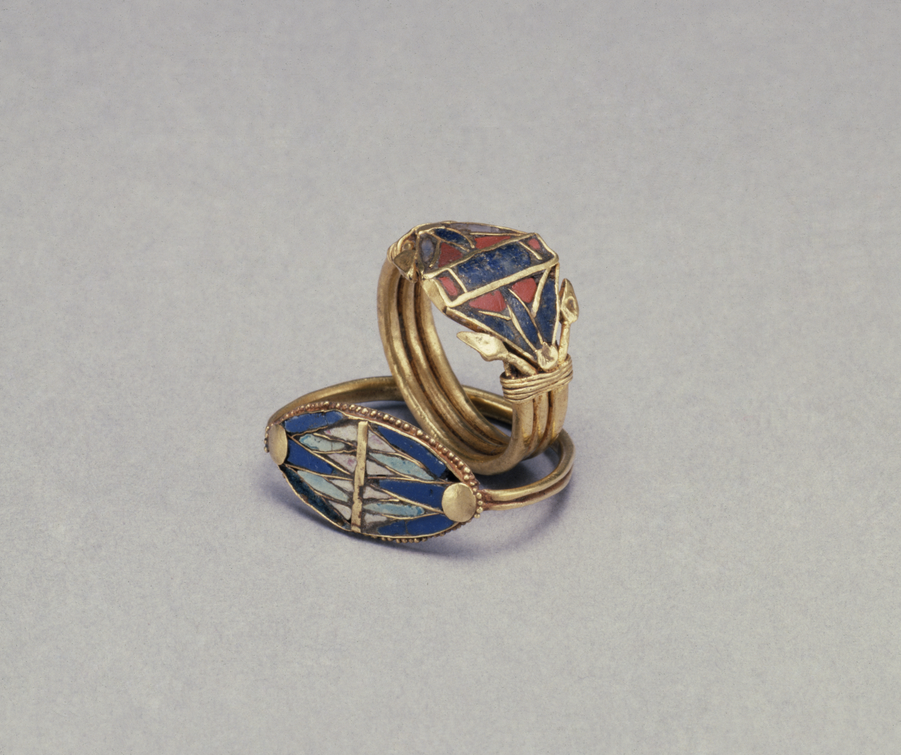 Fileegyptian Two Rings With Lotus Flowers Walters 571474