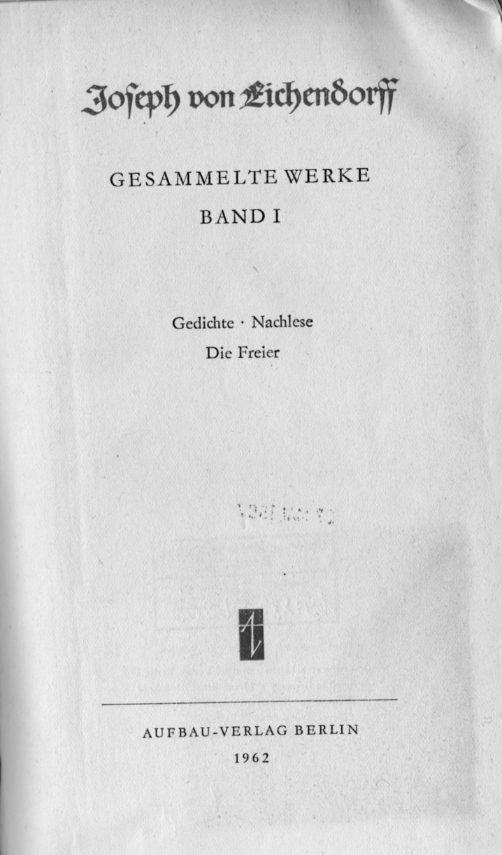 Fileeichendorff Gedichte Titeljpg Wikimedia Commons