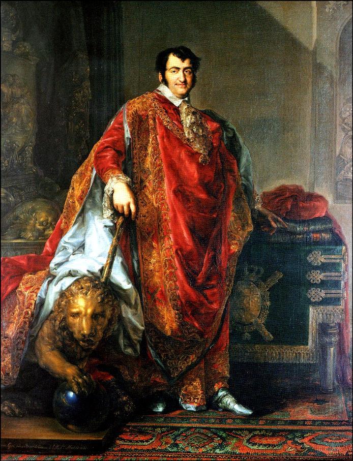 Fernando VII con el manto de la Orden del Toisуn de Oro (Museo Lбzaro Galdiano).JPG
