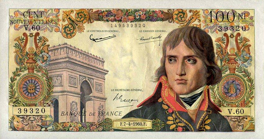 Billet De 100 Nouveaux Francs Bonaparte Wikipedia