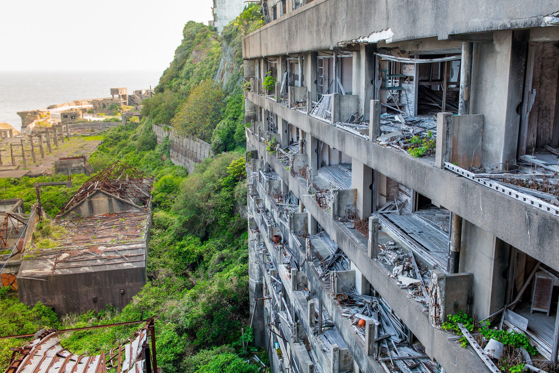 From the school on gunkanjima