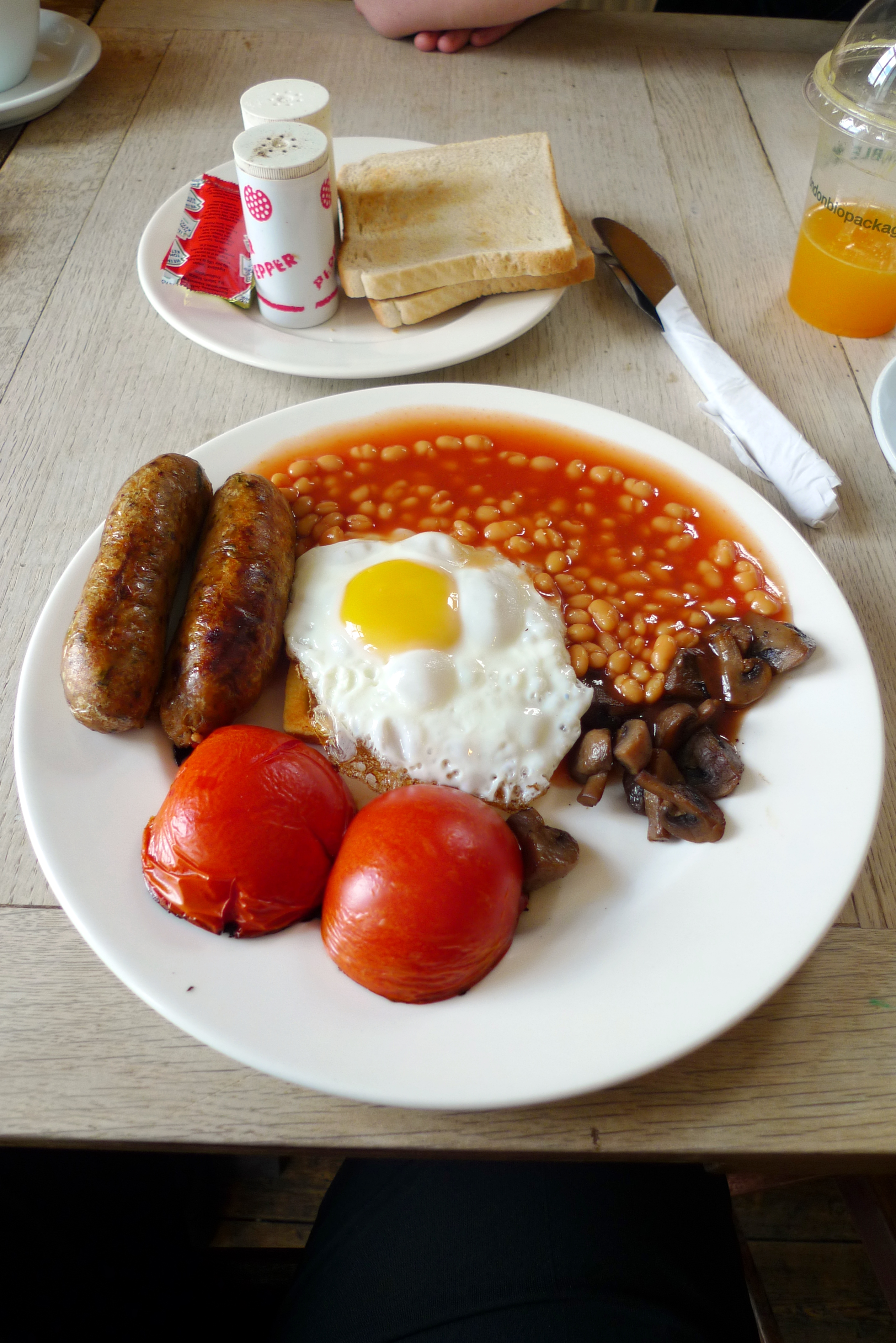 File:Full english breakfast with veggie sausages 2 cc flickr user ewan ...