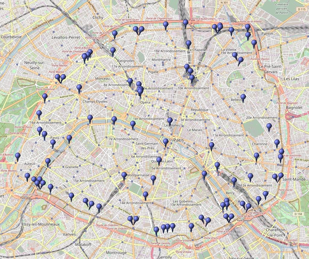 Carte Bordeaux Ville Banlieue