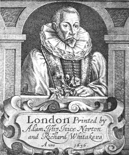 John Gerard<br>[[Book frontispiece|Frontispiece]] of 1636 edition of ''Herball''