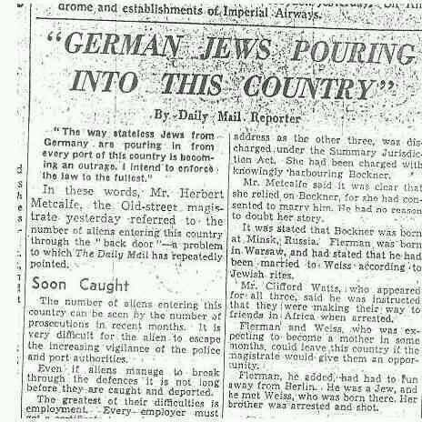 Image result for daily mail support for nazi germany