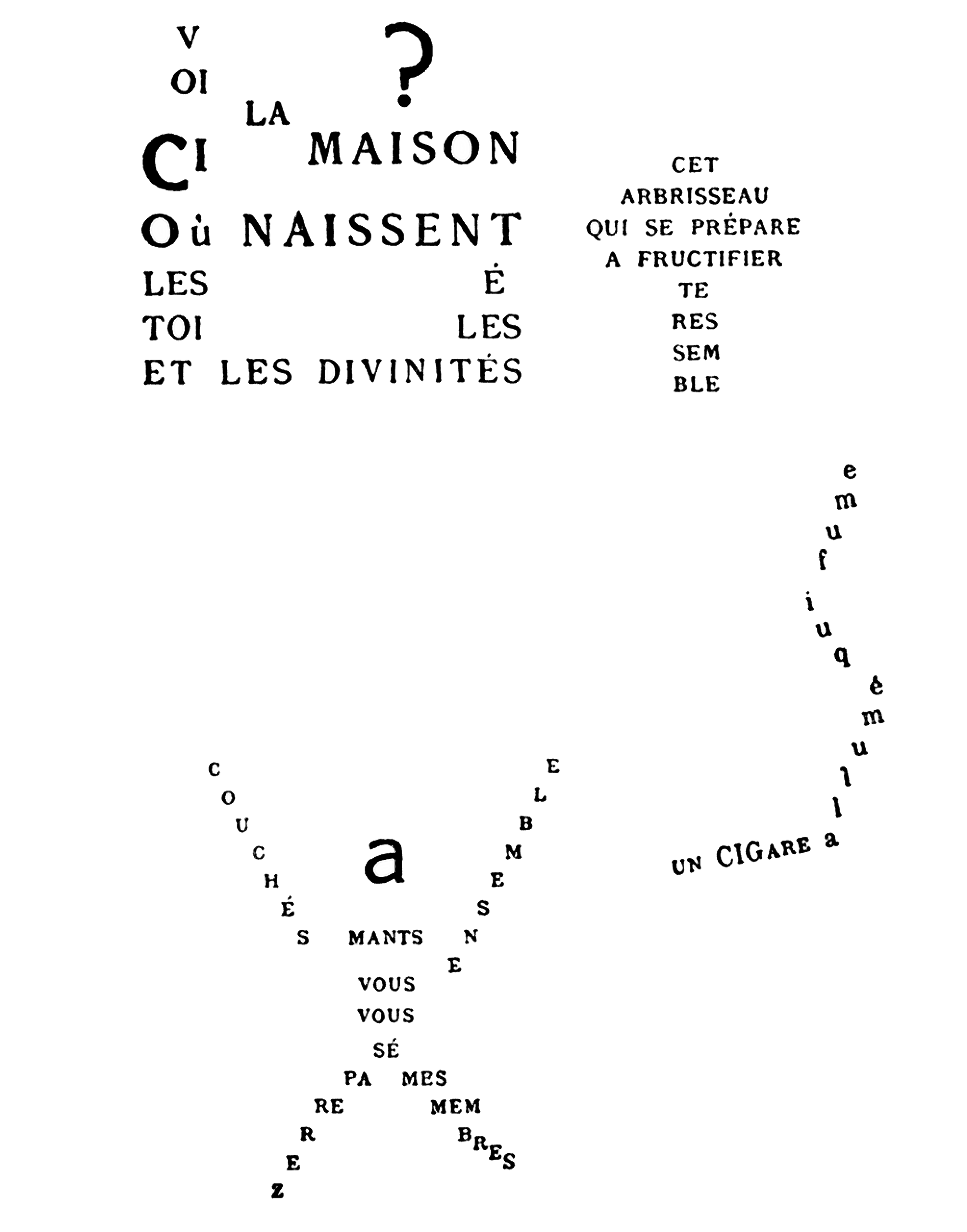 File guillaume apollinaire calligramme for Miroir de voyage