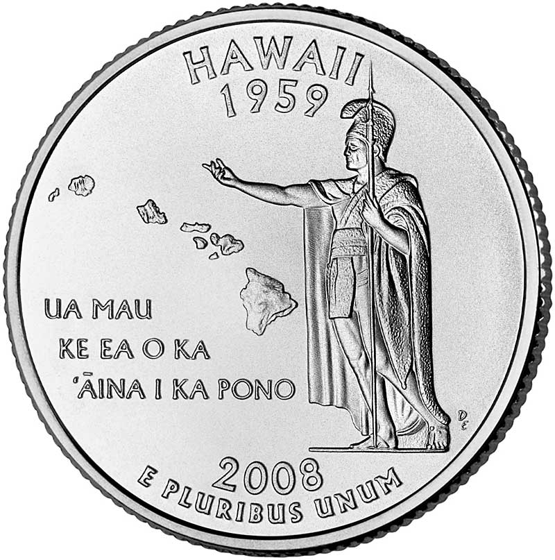 2008 Hawaii D State Quarter Roll