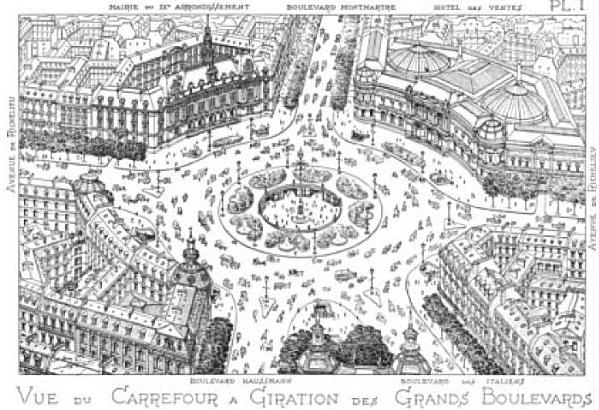 Henard Carrefour a Giration des Grands Boulevards 1910