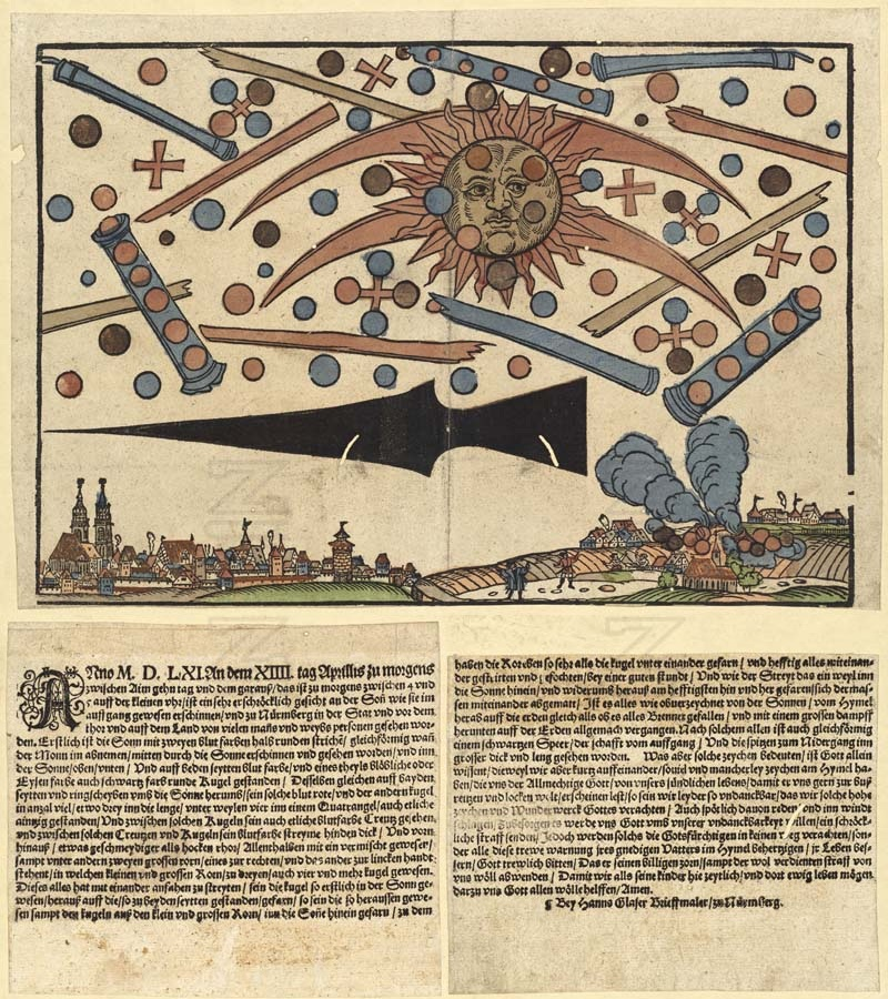 Celestial phenomenon over Nuremberg, 14 April 1561 (publication date)