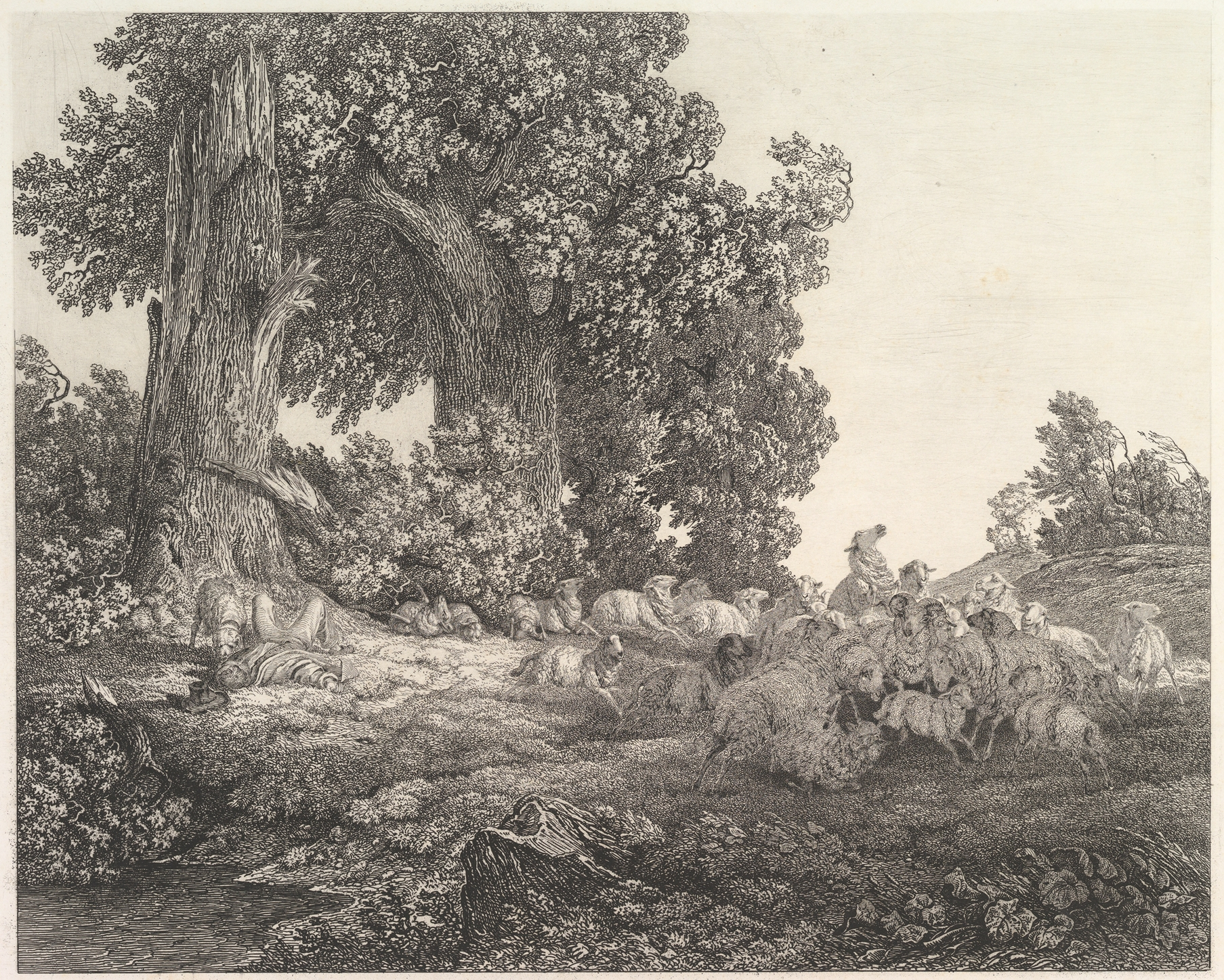 File Ideal Landscape with Sleeping Shepherd and Sheep MET DP