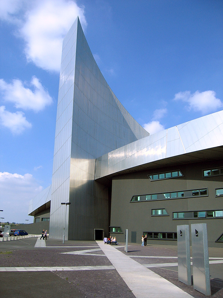 The Imperial War Museum North in Trafford Park was designed by Daniel Libeskind, and is one of the Imperial War Museum's five branches.