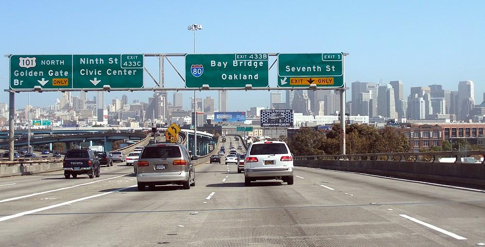 Interestatal California Wikiwand - Us map of interstate 80