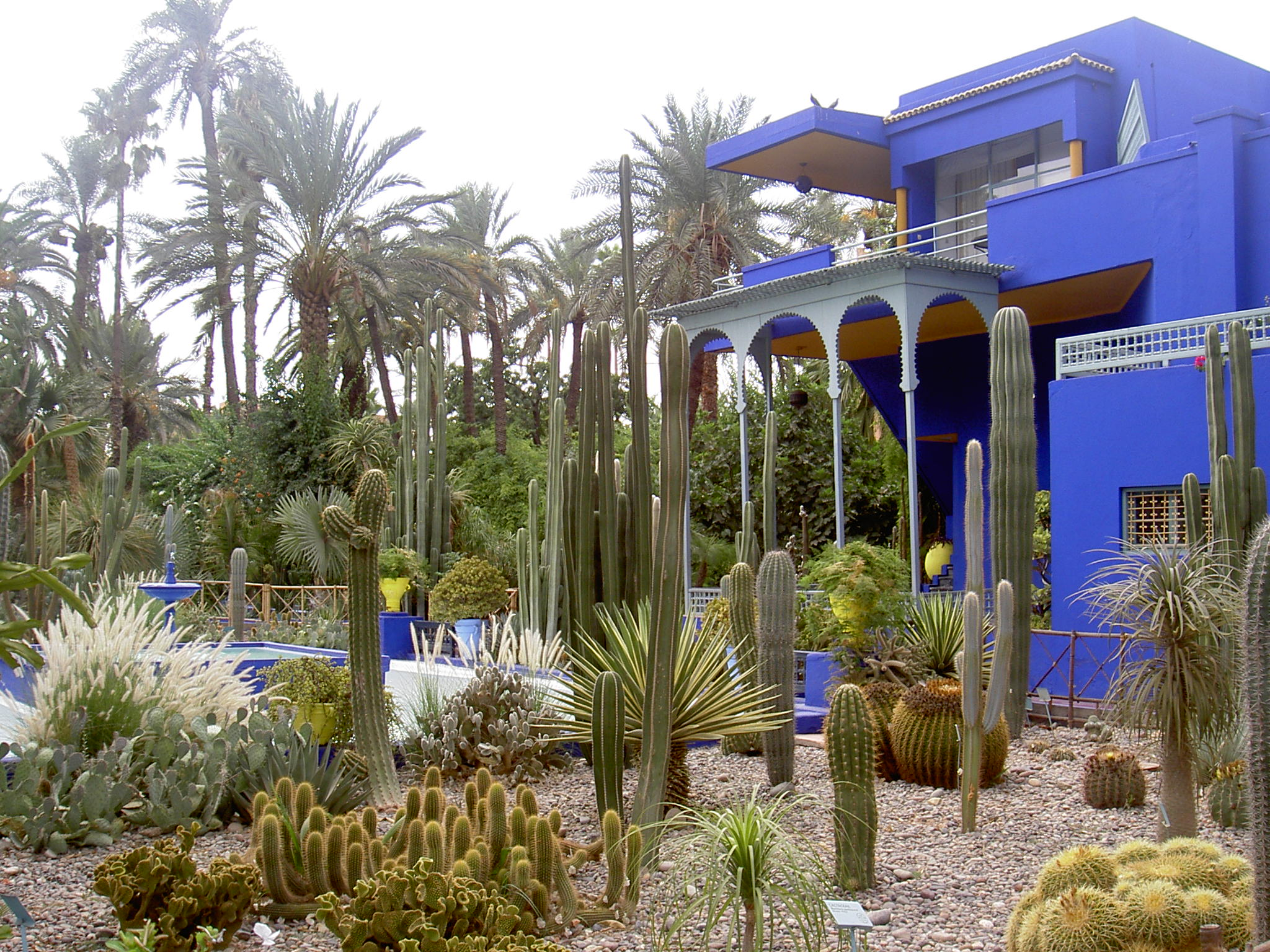 Bleu majorelle le blog de for Jardin marrakech