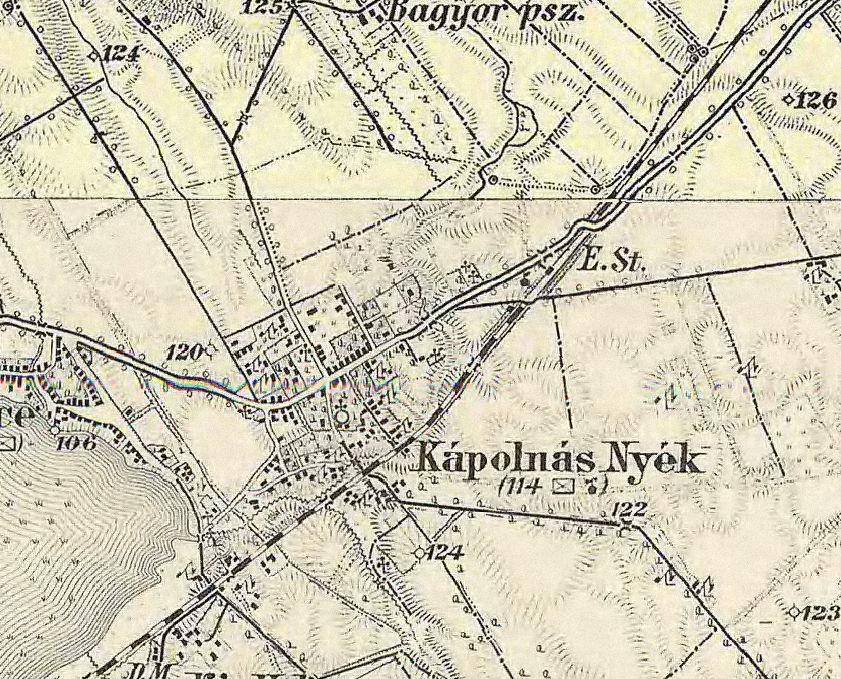 kápolnásnyék térkép File:Kápolnásnyék harmadik katonai felmérés térképe.  kápolnásnyék térkép