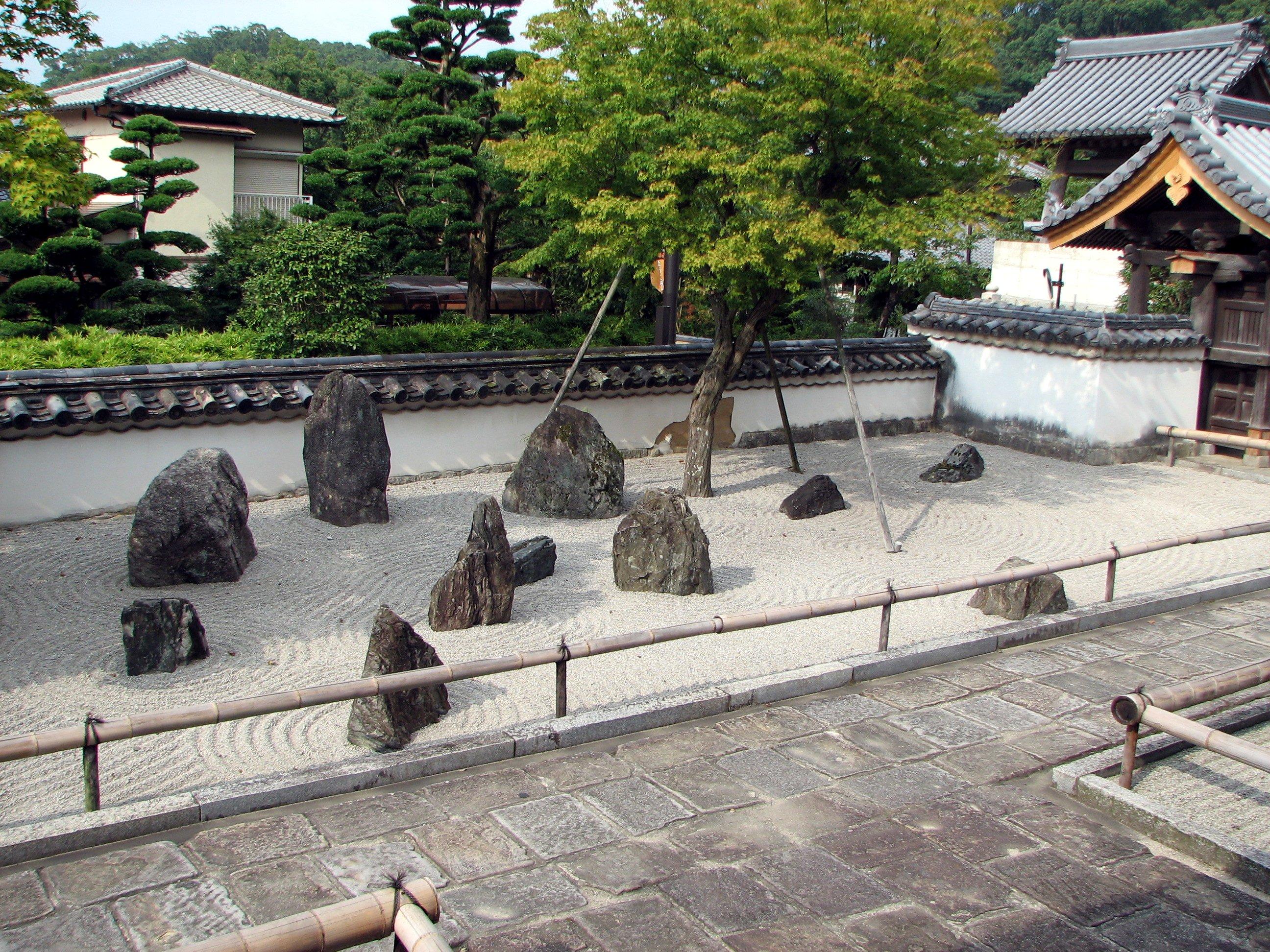 File komyozenji stone garden 2 jpg wikimedia commons for Gardens with rocks and stones