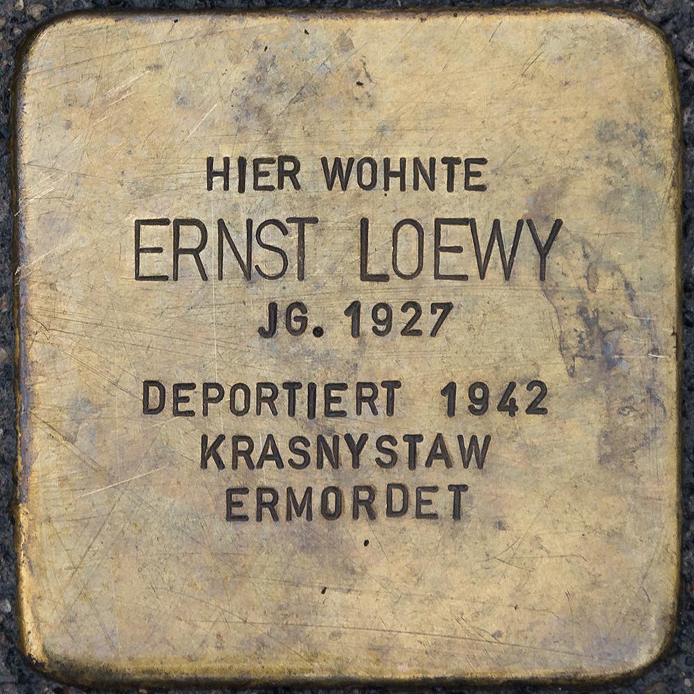 Kronach - Stolperstein Ernst Loewy (Kulmbacher Straße 21).jpg