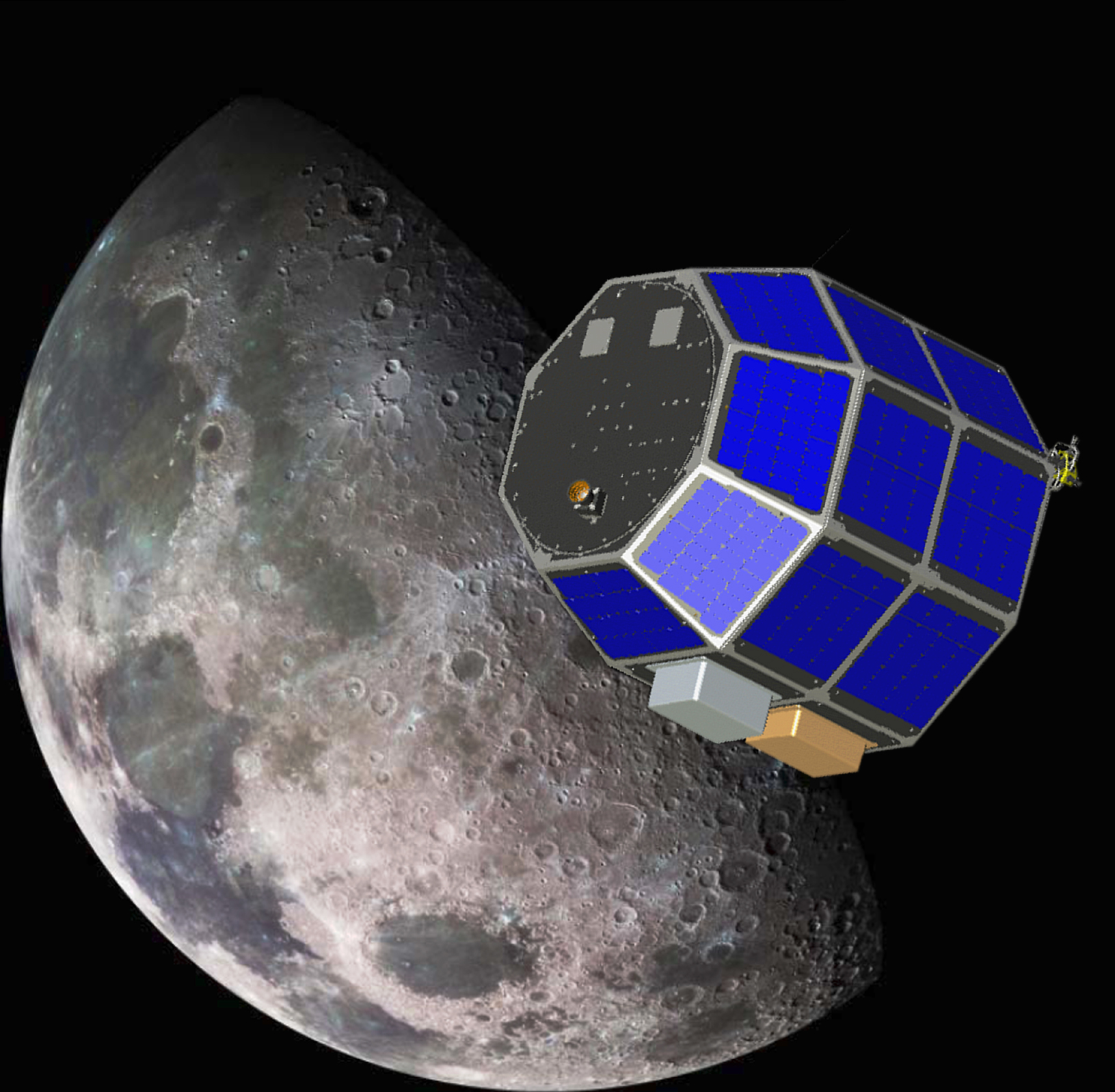 Depiction of Lunar Atmosphere and Dust Environment Explorer