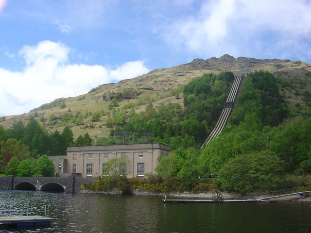 Loch Sloy hydro-electric power station - geograph.org.uk - 173508