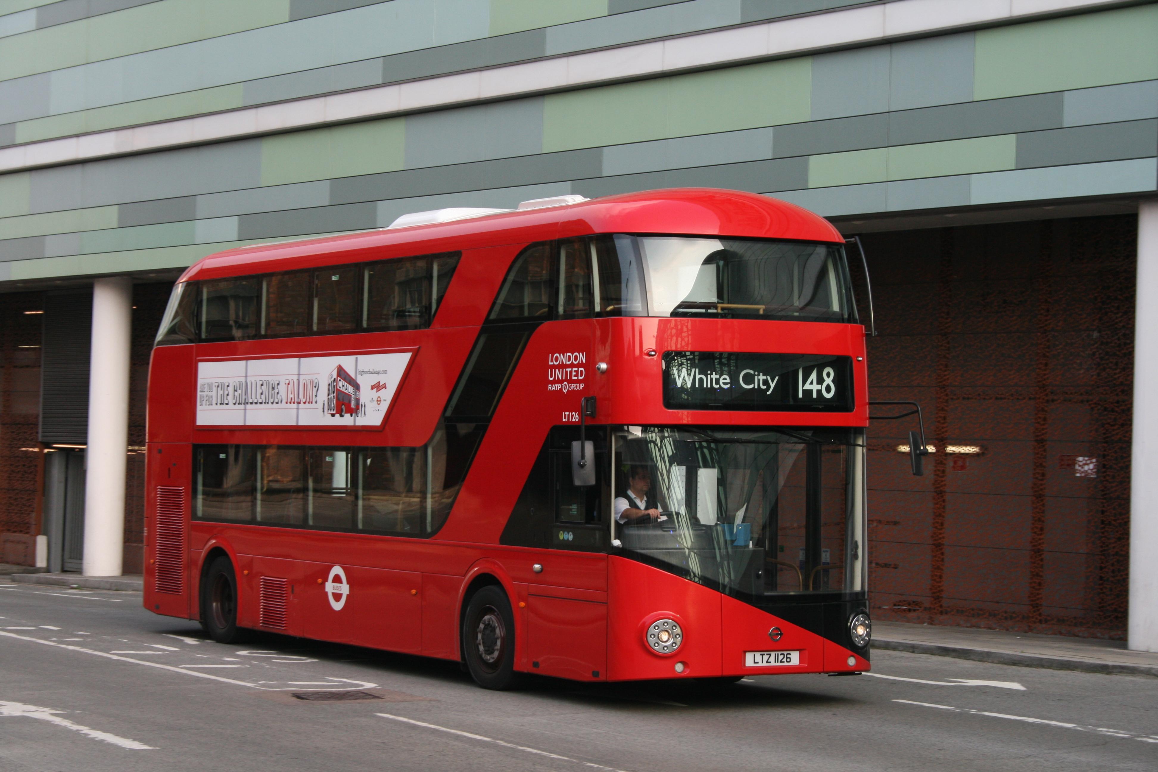 File London United Bus Lt126 Ltz 1126 Route 148 6