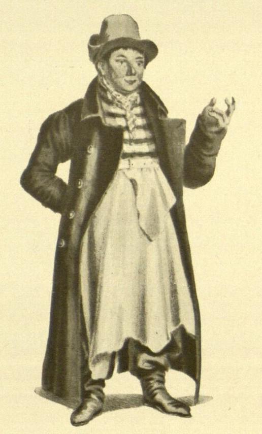 Louis Angely as Foreman Kluck in ''Das Fest der Handwerker''