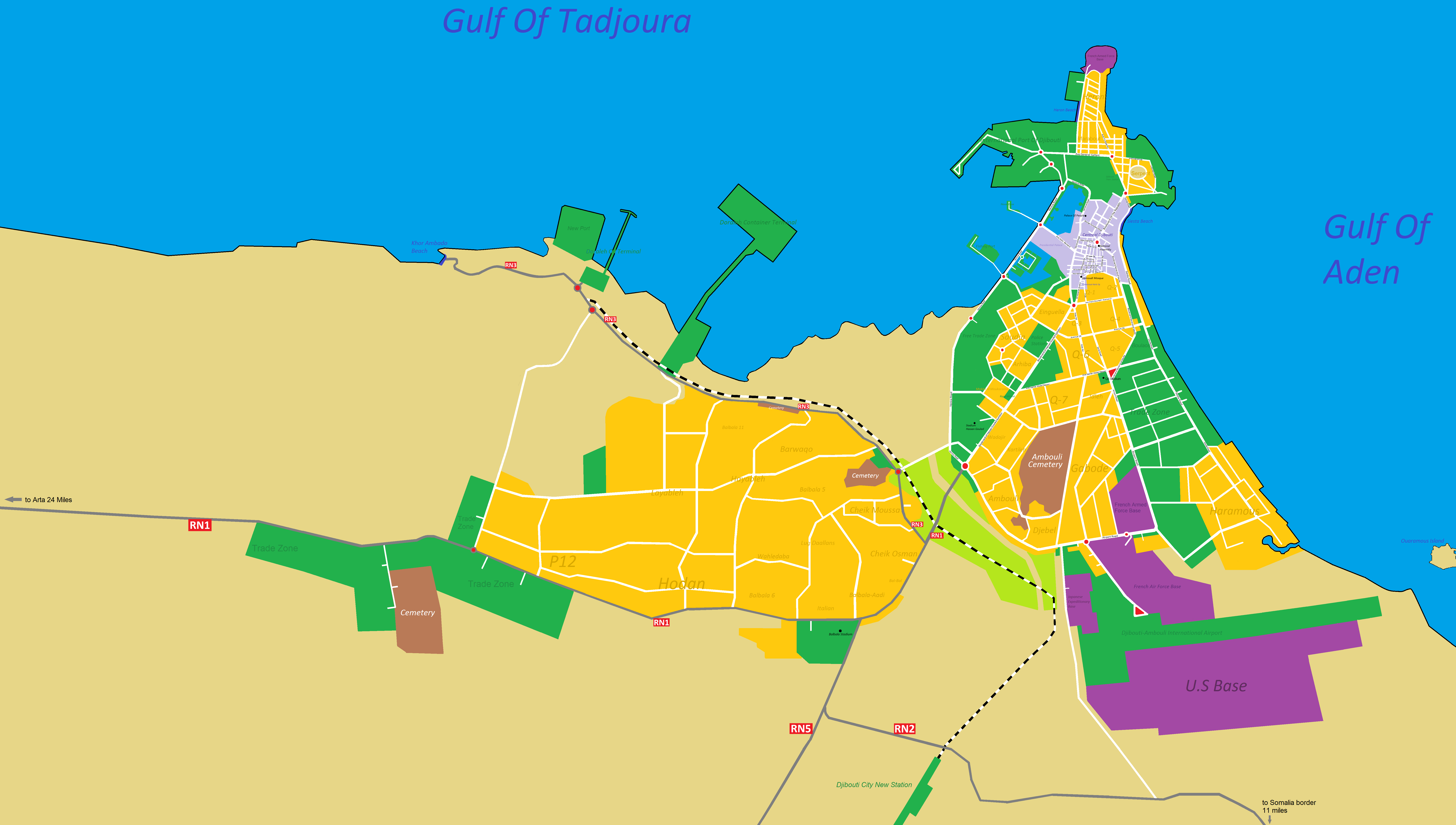 File:Map Of Djibouti City and Balbala.png - Wikimedia Commons on