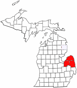 FileMap Of Michigan Highlighting The Thumbpng